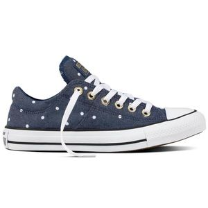 EUC Converse Madison small dot blue sneakers 6